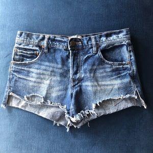 Free People Cut-off Denim Jean Shorts -  Size 4